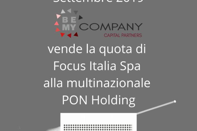 Vende la quota di Focus Italia Spa alla multinazionale PON Holding