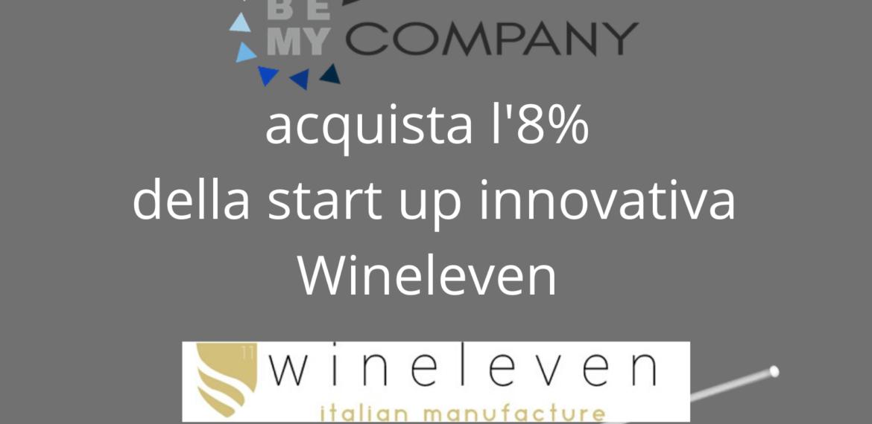 Acquisto l'8% della start up innovativa Wineleven