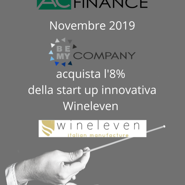 Acquisto l'8% della start up innovativa Wineleven